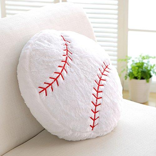 Ozzptuu Sports Theme Stuffed Plush Throw Pillows Round Shape