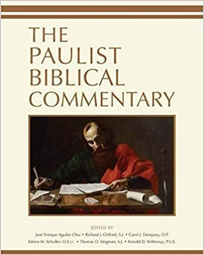 Paulist Biblical Commentary The Edited By Jos Enrique