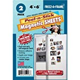 "Freez-A-Frame Magnetic 4"" x 6"" Photo Frame with Peel-n-Stick Sheets, 2 Pack"