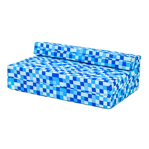 BLACK FRIDAY DEAL 2017 - Blue Pixels Design Children's Cotton Double Sofa Bed Folding Chair Mattress Boxify
