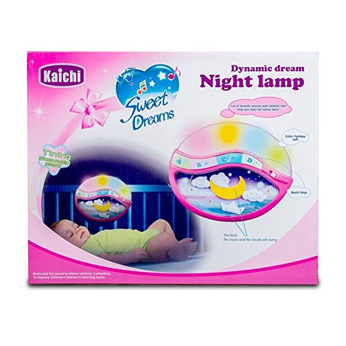 Play Baby Toys Magic Sleep Through The Night Soother Baby Crib Clip In Night Lamp With Multiple Melodies To Put Your Baby To Sleep, In Pink by Play Baby (Image #3)