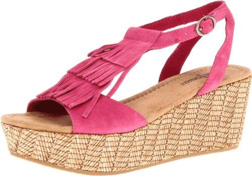 femme Fuchsia Minnetonka Rose Central chaussures Pink compensées AUxZHq
