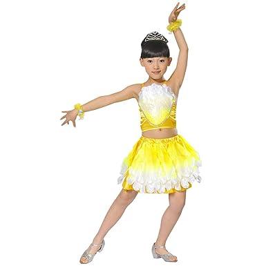 KINDOYO Ropa de Baile para Niños - Vestido de Baile Latino de ...