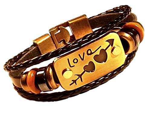Christmas Love Bracelet Leather Couples