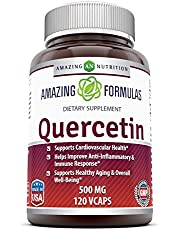 Amazing Formulas - Quercetin 500 Mg * Supports Cardiovascular Health, Helps Improve Anti-Inflammatory & Immune Response, Supports Healthy Ageing and Overall Well-Being *