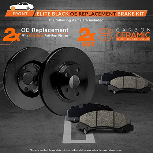 Max Brakes Rear Carbon Metallic Performance Disc Brake Pads TA084952 2007 07 2008 08 2009 09 2010 10 Kia Rondo Fits