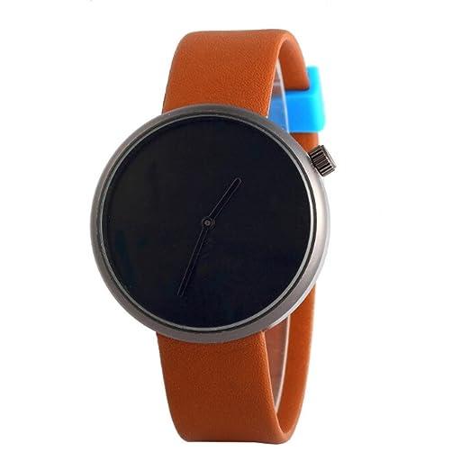 Relojes Hombre,❤LMMVP❤Correa de color brillante no digital sin segundo hombre de cuarzo de negocios casual reloj regalo (C): Amazon.es: Relojes