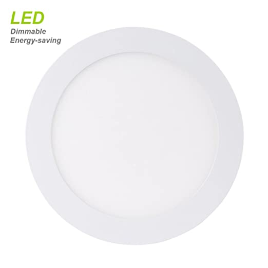 B right led panel light 6w 4 inch dimmable ultra thin round b right led panel light 6w 4 inch dimmable ultra thin round flat light 40w incandescent equivalent natural white4000k 220v hole size 105mm mozeypictures Choice Image
