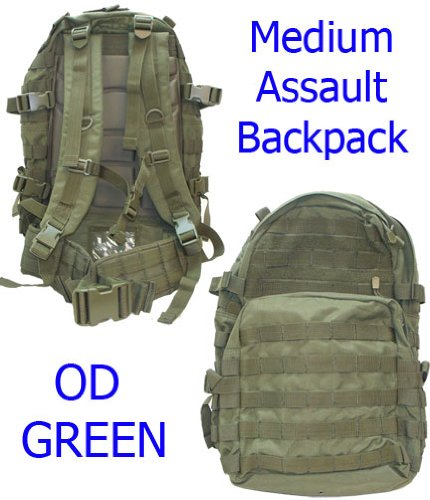 Medium Molle Assault Pack USMC Hiking Backpack OD Green for sale  Delivered anywhere in USA