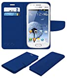 Acm Leather Flip Wallet Case for Samsung Galaxy Grand Duos I9082 Mobile Cover Blue