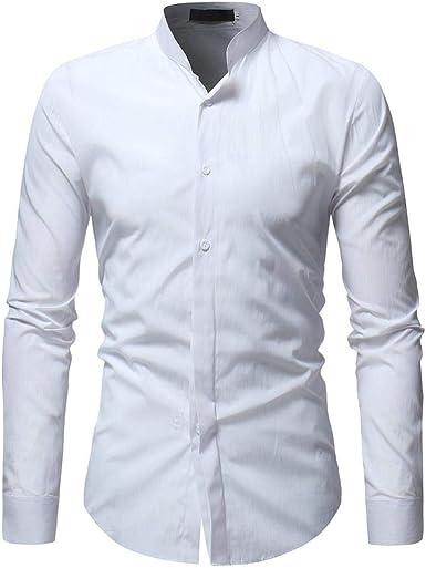 Bovake - Camisa de Vestir - para Hombre Blanco XXL: Amazon.es: Ropa y accesorios
