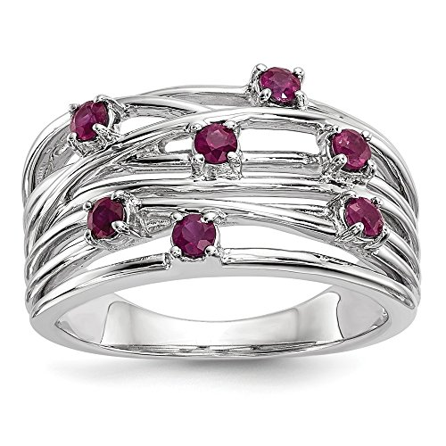 14k White Gold Ruby Engagement Ring (0.63CT)