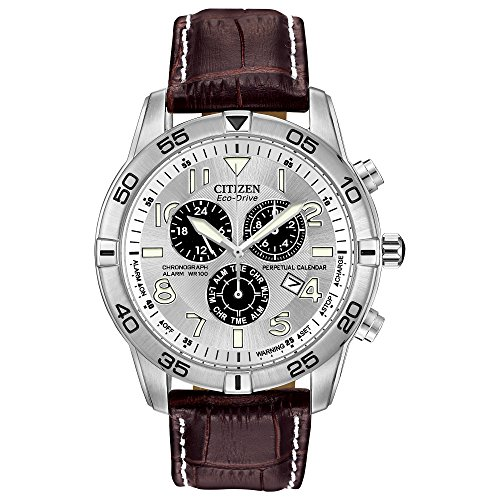 Watch Alarm 100m Chronograph Titanium - Citizen Men's Eco-Drive Chronograph Watch with Perpetual Calendar and Date, BL5470-06A