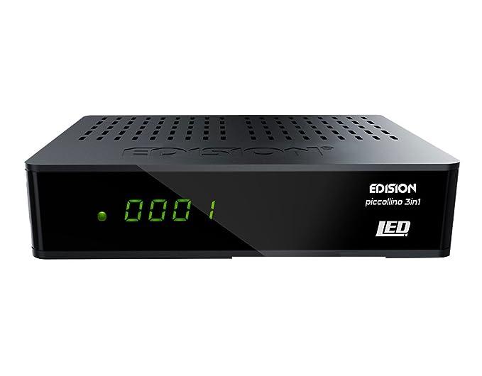 10 opinioni per Edision Piccollino Ricevitore triplo 3in1LED Full HD (DVB-S2/T/C, HDMI, USB,