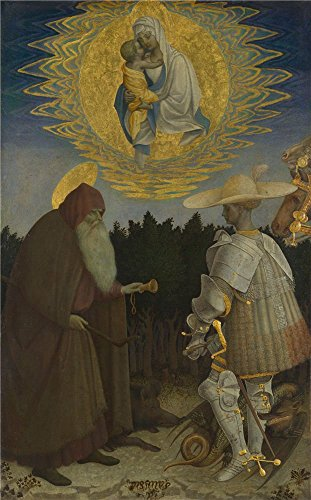 'Pisanello The Virgin And Child With Saints ' Oil Painting, 8 X 13 Inch / 20 X 33 Cm ,printed On High Quality Polyster Canvas ,this Replica Art DecorativePrints On Canvas Is Perfectly Suitalbe For Hallway Gallery Art And Home Decoration And (Chameleon Pajama Costume)