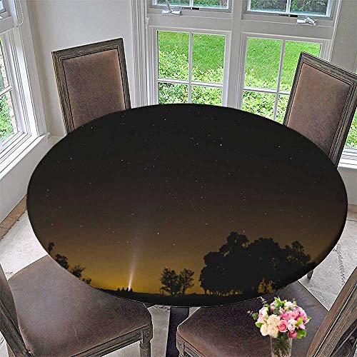 - Mikihome Round Fitted Tablecloth a Star Studded Sky for All Occasions 59