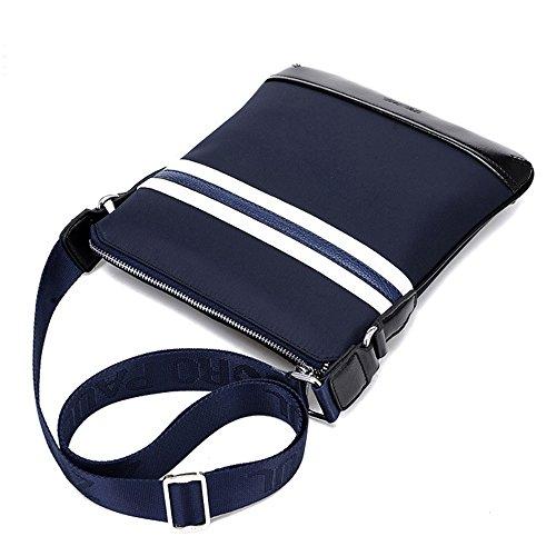 Oxford Bandolera Hombre Casual Cloth Stripe ZQ Bolso Stitching para FE6xwv