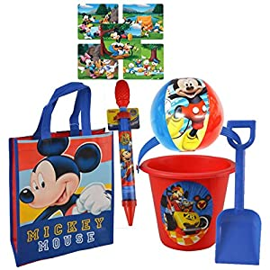 UPD, Disney Licensed 5pc Summer Buckets of Fun! Includes Resuable Pool Bag, Bucket, Shovel, Water Blaster Squirt Gun…