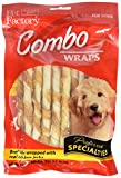 Pet Factory Rawhide Twist Sticks Wrapped with Chicken Meat Chews for Dogs (18 Pack), Small/5''