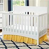 Delta Children Bennington Lifestyle Flat 4-in-1 Convertible Crib - White Ambiance by Delta