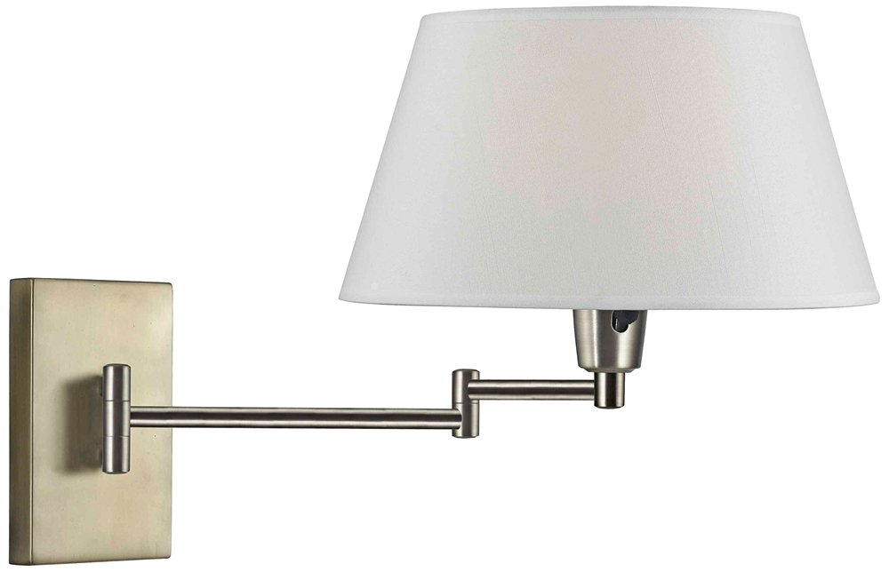 Kenroy Home 30100VB Simplicity Wall Swing Arm Lamp 13.5 Inch Height, 16 Inch Width, 26 Inch Extension Vintage Brass