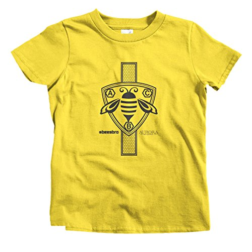 Smash Transit x Aurora Bee Co. Kids Crest and Comb Vertical Bee T-Shirt - Yellow, Youth -