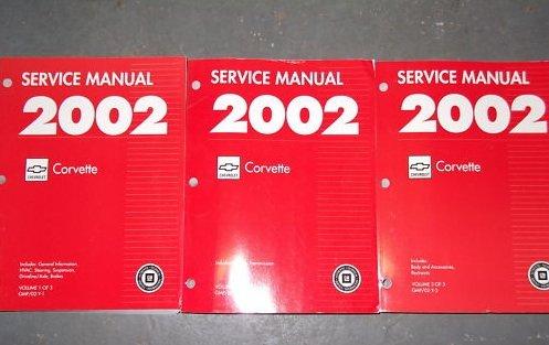 2002 Chevrolet Chevy Corvette Service Shop Manual Set (3 volume set)