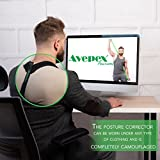 Avepex Posture Corrector Back Clavicle Brace with A Resistant Band | Breathable, Adjustable Fasteners, Discreet Fit | Relieve Shoulder Pains, Minimize Slouching, Realign Your Spine