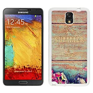NEW Unique Custom Designed Samsung Galaxy Note 3 N900A N900V N900P N900T Phone Case With Summer Travel Time Wood Writing_White Phone Case