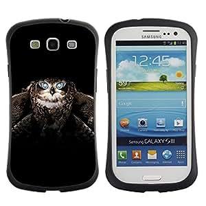 "Pulsar iFace Series Tpu silicona Carcasa Funda Case para SAMSUNG Galaxy S3 III / i9300 / i747 , Búho alas del pájaro Vuelo Animal Negro"""
