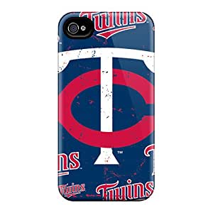 Great Hard Cell-phone Case For Iphone 4/4s With Customized Vivid Minnesota Twins Skin KaraPerron