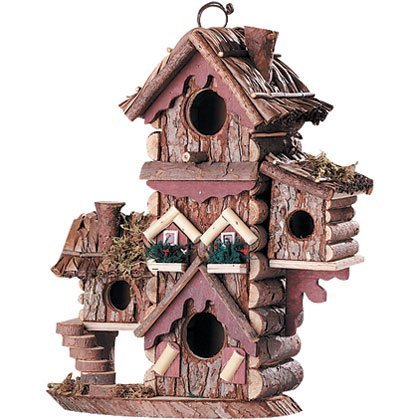 Gingerbread Style Birdhouse Avian Bird House Condo by Furniture Creations (Birdhouse Gingerbread Style)