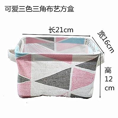 Luckyfree Panier à linge en coton d'vêtements sales jouets Panier Panier de stockage des débris Snack-, Triangle 21 * 16 * 12cm