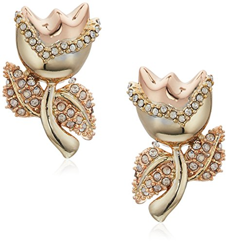 Alexis Bittar Tulip Stud Post Earrings, 10K Gold with Rose Gold Accents, One Size