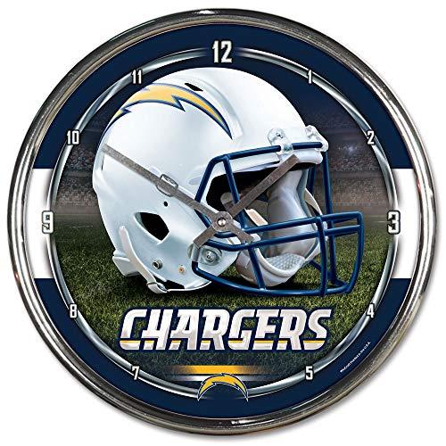 NFL San Diego Chargers Chrome Clock, 12
