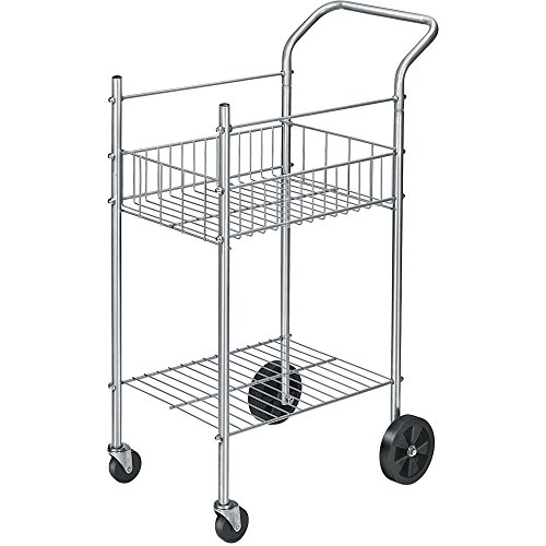 Fellowes 4092001 Mail Cart,Holds 75 Ltr/Lgl Fldrs,19-1/2''x26''x40-1/4'',CE by Officesaleman