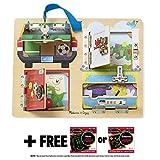Lock & Latches Board + FREE Melissa & Doug Scratch Art Mini-Pad Bundle [95402] by Melissa & Doug