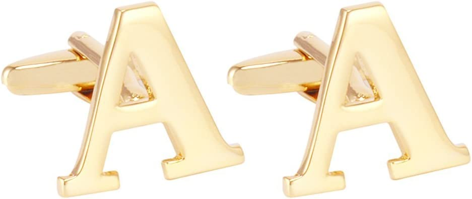 Antique Pair of Gold Filled Tri-Color Gold Men/'s Cufflinks with an monogram of either a W or a M