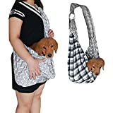 Pet-Sling-Carrier-KSTON-Small-Dog-Cat-Sling-Pet-Carrier-Bag-Safe-Reversible-Comfortable-Machine-Washable-Ddjustable-Pouch-Single-Shoulder-Carry-Tote-Handbag-for-Pets-Below-99-lb