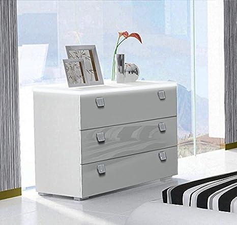 muebles bonitos - Cómoda Alicante en Color Blanco con LED ...