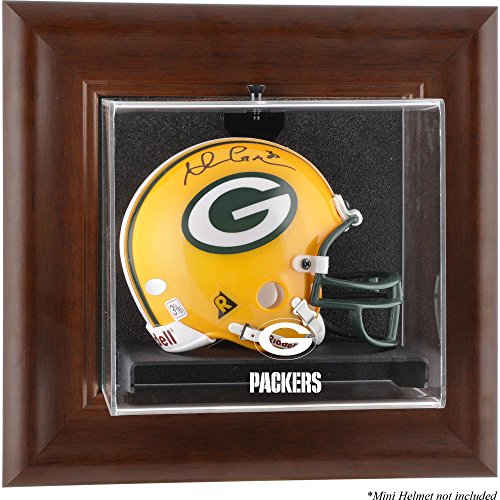 Brown Case Helmet (Mounted Memories Green Bay Packers Brown Mini Helmet Display Case - Green Bay Packers One Size)