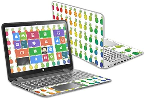 Made in The USA MightySkins Skin Compatible with HP Envy x360 15.6 and Change Styles Rainbow Pineapples and Unique Vinyl Decal wrap Cover Protective Remove Easy to Apply Durable