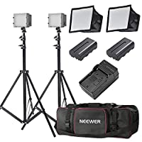 Deals on Neewer 2x160 LED Dimmable Ultra High Power Panel Lighting Kit