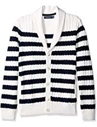 Men's Breton Stripe Cardigan
