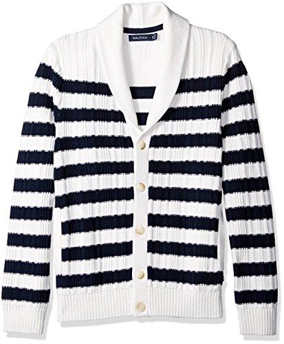 [해외]노티카 남자 브리타니 스트라이프 카디건/Nautica Men`s Breton Stripe Cardigan