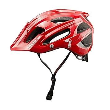 super specials best sell latest Seven mixed M4/Mountain Bike Helmet, unisex, Rouge Mat/Blanc, S/M ...