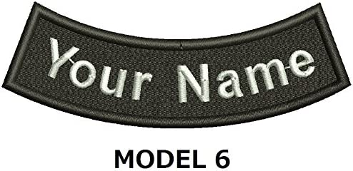 CURVE CUSTOM EMBROIDERED NAME TAG Iron on patch Quality Badge Inverse