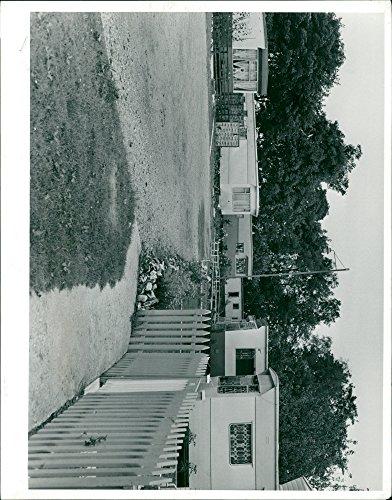 Vintage photo of A pleasant corner of the New Town Caravan Park at St. Faith39;s.