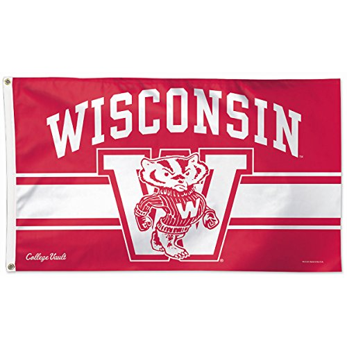 - University of Wisconsin Throwback Vintage 3x5 College Flag