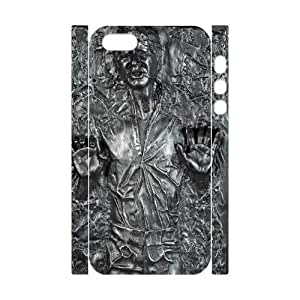 Qxhu Han Solo patterns Hard Case Back Cover for Iphone5,5S 3D case